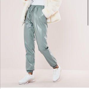 Missguided jogger pants metallic 6